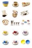 Types mural cups Stock Photos