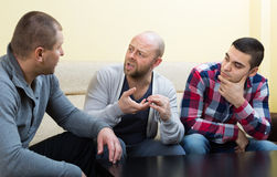 Types partageant des problèmes à la table Image libre de droits