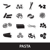 Types of pasta food eps10 Royalty Free Stock Images