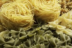 Types of pasta Stock Images