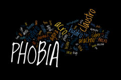 Types of Phobia Royalty Free Stock Image