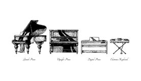 Types of piano Stock Photography