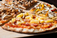 4 types of pizza Royalty Free Stock Images
