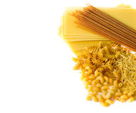 Types of raw pasta Royalty Free Stock Photos