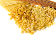 Types of raw pasta Stock Image