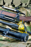 Types of rifle guns Royalty Free Stock Photography