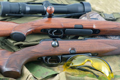 Types of rifle guns Stock Images