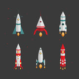 Types of rockets. Launching to space Stock Photo