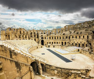 Types of Roman amphitheatre in the city of El JEM in Tunisia Royalty Free Stock Photography