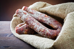 Types of salami Royalty Free Stock Image