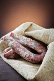 Types of salami Stock Images
