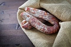 Types of salami Stock Photo