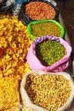 Types secs mélange de variété de nourriture photos stock