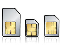 Types of sim cards Royalty Free Stock Photography