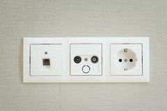 Types of sockets Stock Image