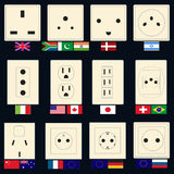 Types of Sockets Stock Photo