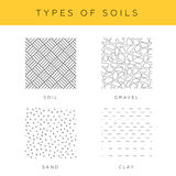 Types of soils Royalty Free Stock Photography