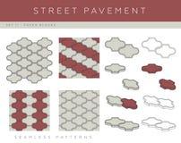 Types of street pavement Stock Photos