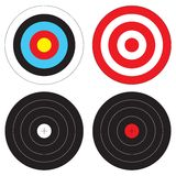 Types of Targets. Archery, Shooting Range, and Game Targets Royalty Free Stock Image
