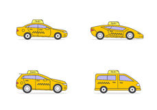 Types of taxis Stock Photos