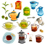 Types Of Tea Set Stock Photo
