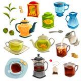 Types Of Tea Set Stock Photo