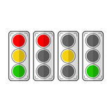 Types traffic lights. Flat icons. Vector Stock Photography