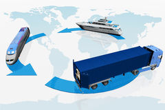 Types of transport Royalty Free Stock Photography