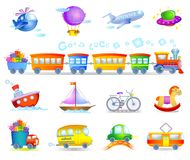 Types of transport Royalty Free Stock Photos