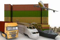Types of transport of transporting are loads Stock Photos