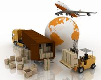 Types of transport of transporting are loads Royalty Free Stock Photo
