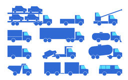 Types of trucks. Royalty Free Stock Image