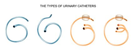The types of urinary catheters Stock Photography