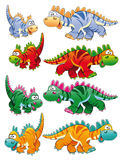 Types van dinosaurussen stock illustratie
