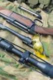 Types van geweerkanonnen Stock Fotografie