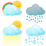 Types of weather Royalty Free Stock Photos