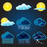 Types of weathers Royalty Free Stock Photos