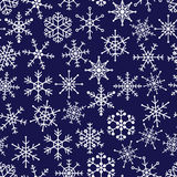 16 types of white snowflakes in seamless pattern. Eps10 vector illustration