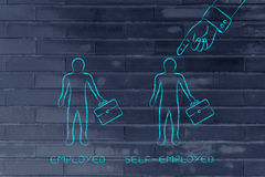 Types of work, being self-employed chosen over employed Royalty Free Stock Image
