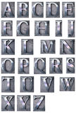 Typescript alphabet upper-case Royalty Free Stock Image