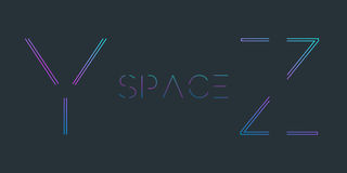 Typescript. Font with minimal design. Typographic alphabet in a set. Futuristic alphabet Stock Image