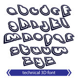 Typescript retro style, technical 3D font, contemporary shift sm Royalty Free Stock Photography