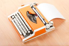Typescript typing typewriter Royalty Free Stock Photo