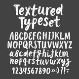 Typeset вектор щетки нарисованный рукой текстурированный Стоковая Фотография