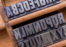 Typesetter drawer: alphabet Royalty Free Stock Images