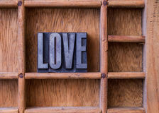 Typesetter drawer: 'LOVE' Royalty Free Stock Photo