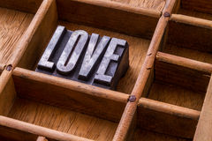 Typesetter drawer: 'LOVE' Royalty Free Stock Images