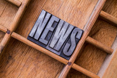 Typesetter drawer: 'NEWS' Stock Image
