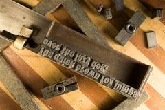 Typesetting equipment Stock Image