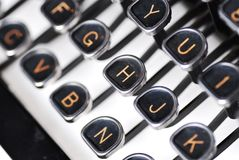 Typewirter close up Stock Image